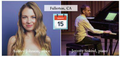 Jazz Concert in Fullerton: Jeremy Siskind + Aubrey...