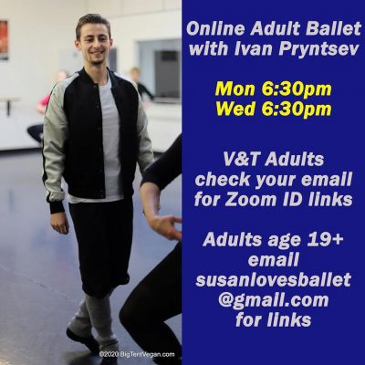 Online Ballet Classes with V and T Dance