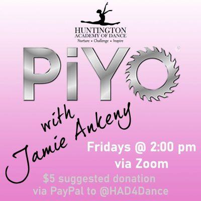 PiYo with Jamie via Zoom!