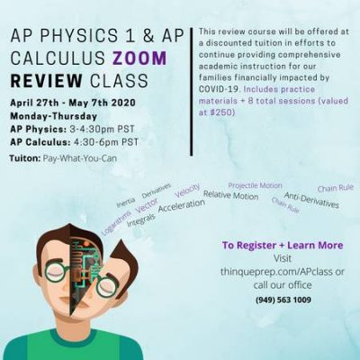 AP Calculus & Physics Zoom Class Series - Pay What You Can