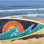 Mosaic a Surfboard