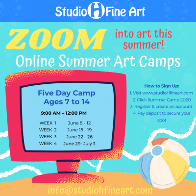 Kids & Teens Online Art Summer Camp