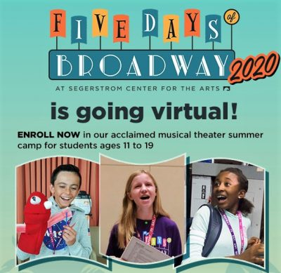 Virtual Summer Camp:  Five Days of Broadway 2020!