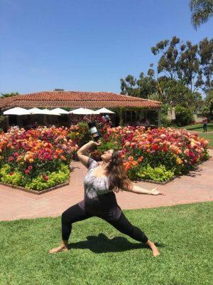 happy hour yoga  sherman gardens sherman library