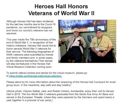 Virtual Veterans Collection at Heroes Hall