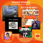 STAGED STORIES: The Live Streamed Series Ep #2: Humor, Food, Dreams, Change and Unapologetic