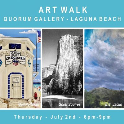 July Art Walk at Quorum Gallery, Laguna Beach
