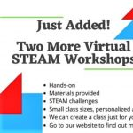 NEW!  Virtual S.T.E.A.M. Summer Classes