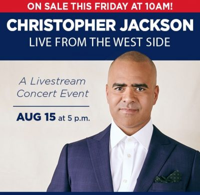Tickets Online for Christopher Jackson, LIVE from NYC