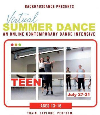 Virtual Summer Intensive Dance for TEENS