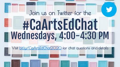 Join #CaArtsEdChat