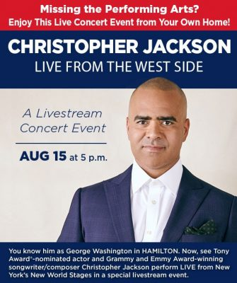 LIVE from NYC -  Christopher Jackson with his band...