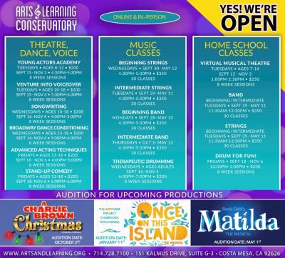Fall Theatre Classes with Arts & Learning Conservatory