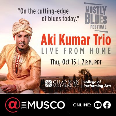 Aki Kumar Trio: Live from Home - Online