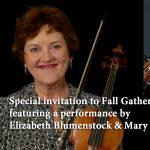 Fall Gathering, online—with performance by Elizabeth Blumenstock & Mary Springfels