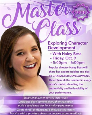 Master Class:  Exploring Character Development