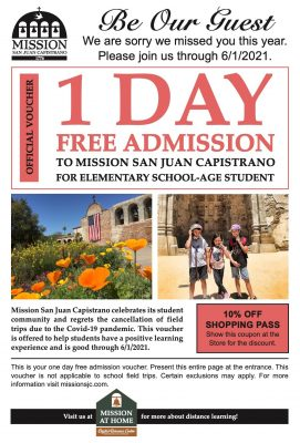 Free Student Voucher - Mission San Juan Capo