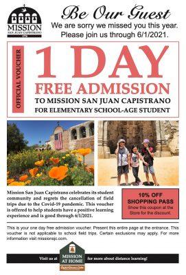 Free Student Voucher - Mission San Juan Capistrano...