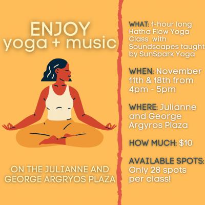 Yoga on the Argyros Plaza