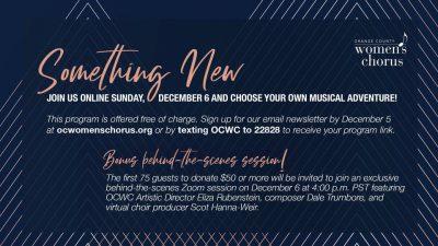 Live with OC Women's Chorus