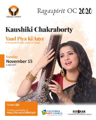 One Night Only:  Kaushiki Chakraborty