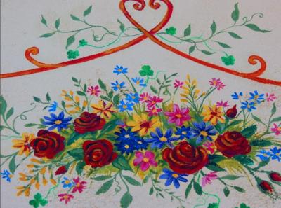 Untitled: Flowers, Vines & Shamrock