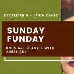Kids Art at Brea Art Gallery - Frida Kahlo