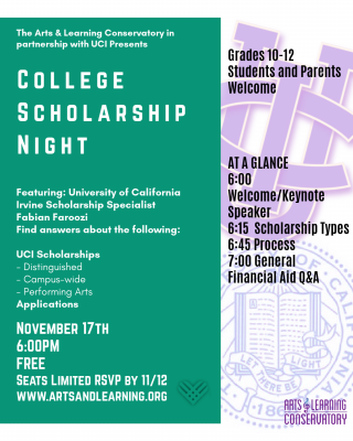 College Information Night: Arts Scholarships
