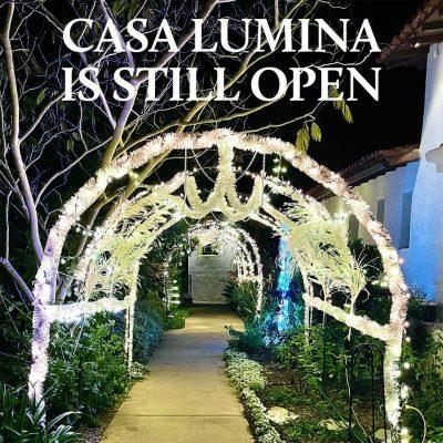 Casa Lumina Holiday Garden Walk