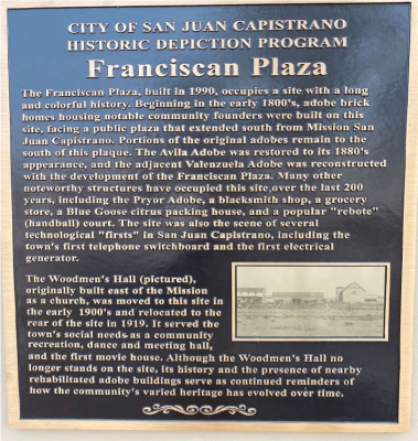 A Depiction at the Franciscan Plaza Plaque