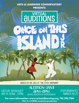 Arts & Learning: Once on This Island Jr. Auditions