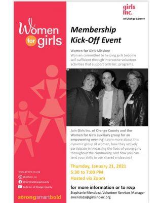 Girls Inc. of Orange County: Women for Girls Membe...