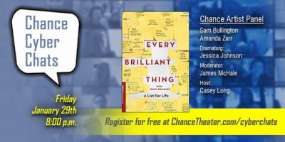 Chance Cyber Chat:  Every Brilliant Thing