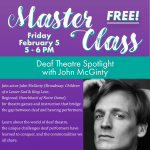 Free Master Class - Deaf Theatre
