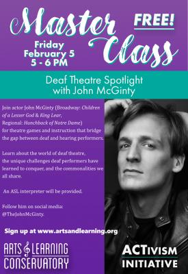Free Master Class - Deaf Theatre