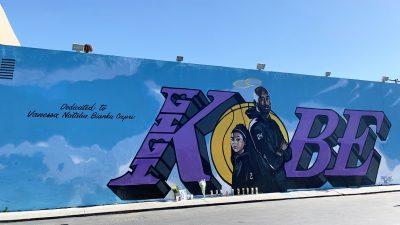 Kobe and Gianna Bryant Tribute Mural