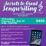 Secrets to Great Songwriting
