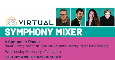 Pacific Symphony Mixer with 4 Composers