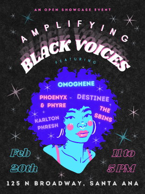 Open Stage Showcase:  Amplifying Black Voices