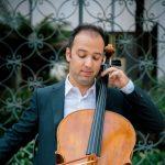 Cellist, Alex Greenbaum at Laguna Art Museum