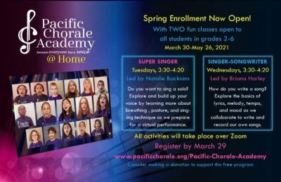 Pacific Chorale Academy @ Home