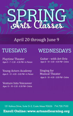 Spring Classes with The Arts & Learning Conser...
