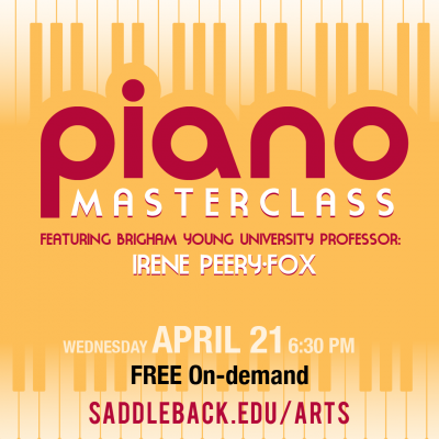 Masterclass Piano with Saddleback College