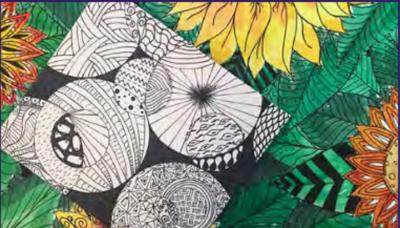 Art Kits for Pick-up:  Zentangle Mosaics