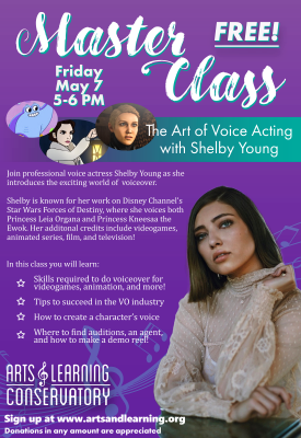 May Master Class: The Art of Voice Acting With She...