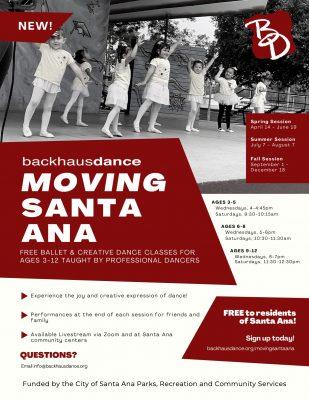 Moving Santa Ana: Backhausdance presents free ballet and creative dance classes for Santa Ana youth