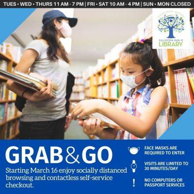 Fullerton Library:  Grab-n-Go
