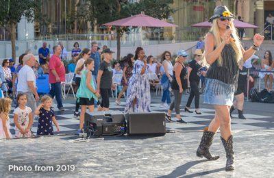Argyros Plaza:  Tuesday Line Dancing
