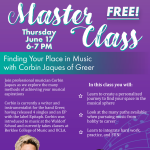 Free Master Class:  Finding Your Place in Music