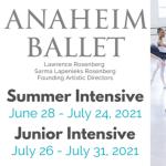 Summer Classes with Anaheim Ballet